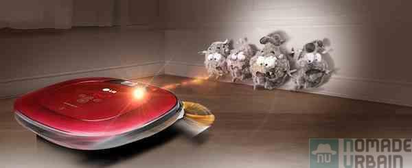 Pac Man aspirateur pour jeu en grandeur nature avec le LG HomBot