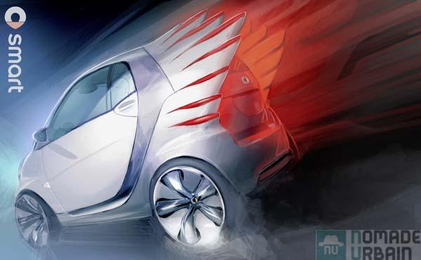 Pégase fashion et électrique, La SMART FORTWO Electric Drive par Jeremy Scott