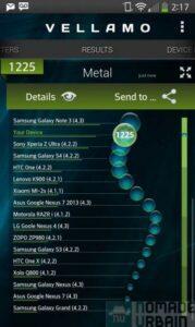 LG G Flex bench vellamo metal