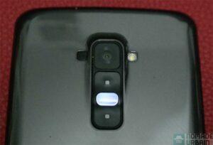 LG G Flex details dos bouton