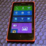 Nokia X face menu d acceuil