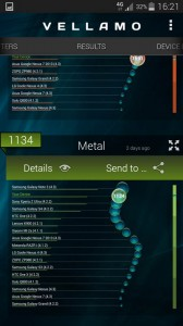Samsung Galaxy S5 capture benchmark vellamo metal