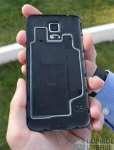 Samsung Galaxy S5 dos et protection coque ip67