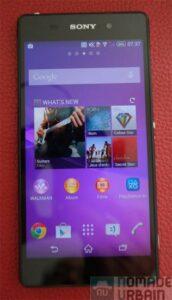 Sony Mobile Xperia Z2 face