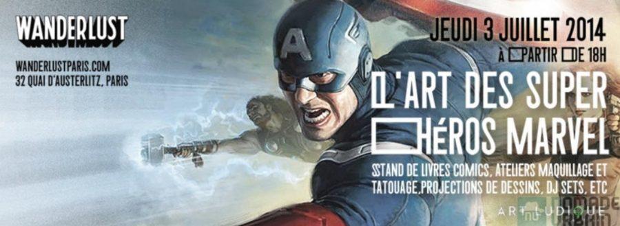 Quand les Super Héros Marvel se la jouent noctambules en bord de Seine!
