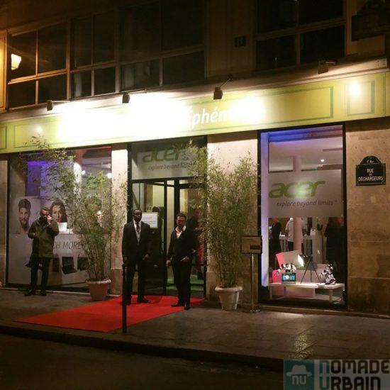 Acer occupe de façon éphémère le centre de Paris!