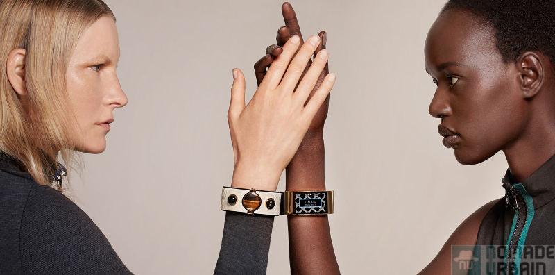 Peau de serpent et pierres précieuses pour bracelet connecté de luxe !