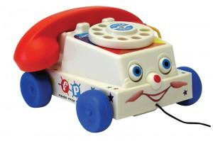 Fischer PRice téléphone à tirer vintage rétro 1961