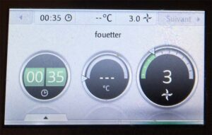 Test VonWerk Thermomix TM5 écran recette 3
