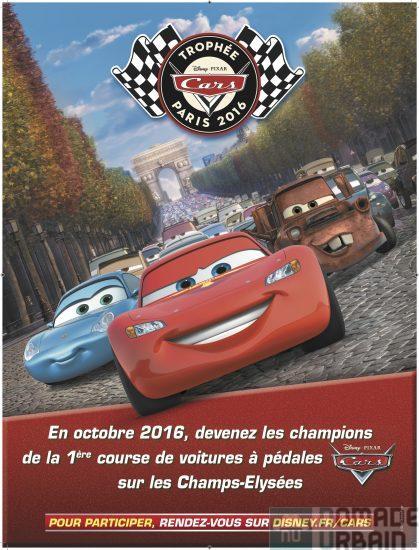 Trophée Cars , dévalez les Champs-Elysées en voiture à pédales !