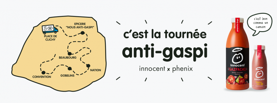 Innocent parcours Paris avec son Phenix anti-gaspillage