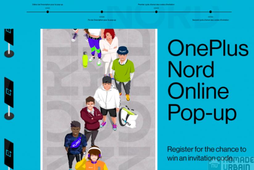 Pop-up en ligne OnePlus Nord, l'éphémère en virtuel