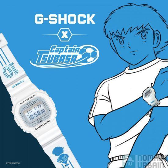 G-Shock x Captain Tsubasa, la montre qui va droit au but