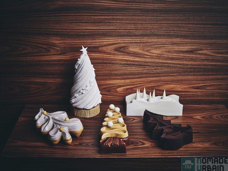 Les Bûches de Noël de Yann Brys, l'idée Gourmande du jour (19/24), 5 déclinaisons de Meilleur Ouvrier de France !!