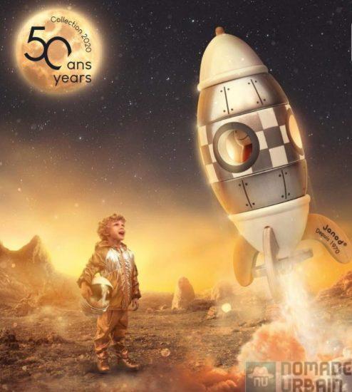 Fusée Janod 50 ans, l'idée jouet du jour (7/24), jouet ou objet de déco ?