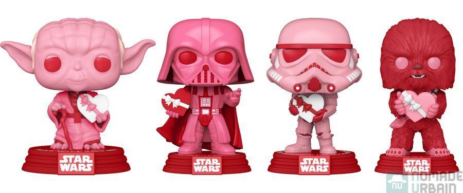 Funko Pop Star Wars Saint-Valentin, le coté rose de la Force