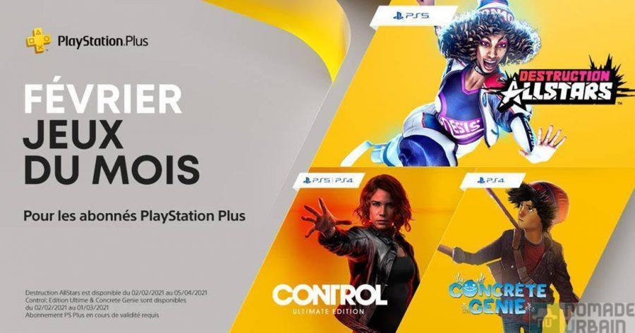 PlayStation Plus les jeux du mois de février 2021