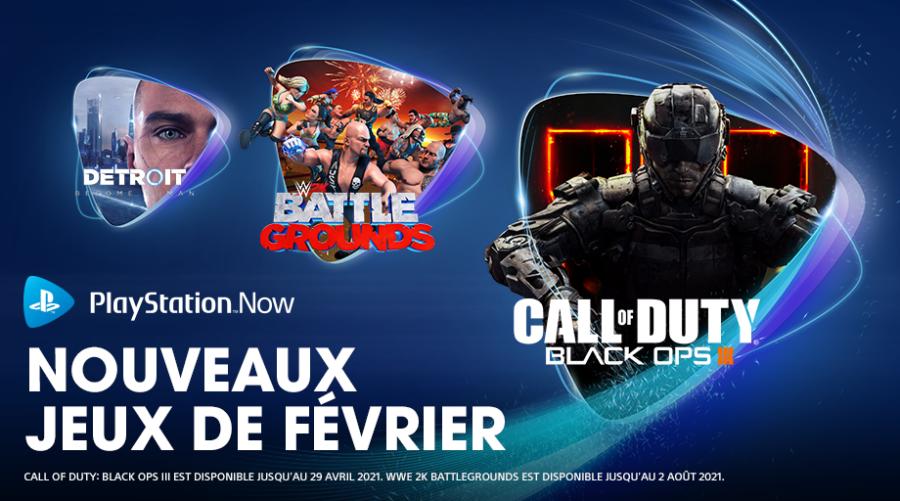 PlayStation Now les jeux de février 2021